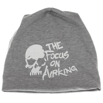 Skull Soft Hat Cap (Grey)