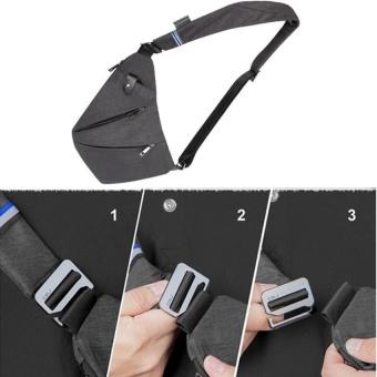 Sling Bag Shoulder Chest Cross Body Backpack Lightweight Casual Outdoor Sport Travel Hiking Multipurpose Anti Theft Crossbody Pack Daypack Bag Up to 7.9 Inch Tablet for Men Women - intl - 5