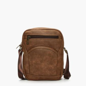 SM Accessories Mens Sling Bag (Brown)