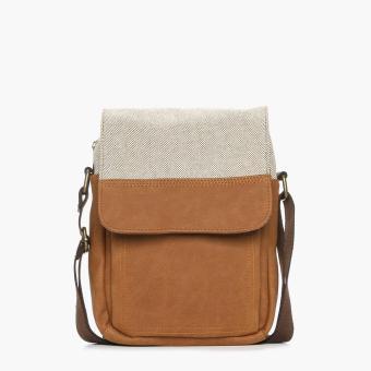 SM Accessories Mens Sling Bag (Tan)