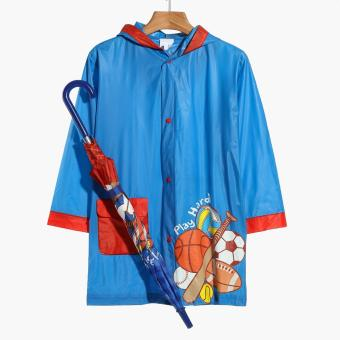 SM Accessories Play Hard Raincoat and Umbrella Set (M)