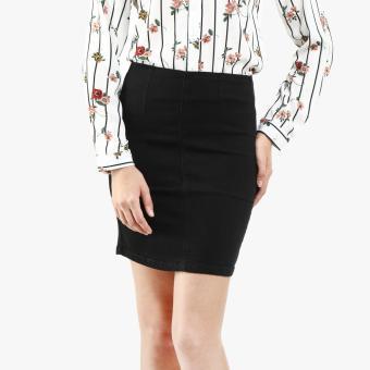 SM Woman High-Waist Denim Skirt (Black)