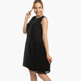 Sm Woman Prima Pleated Fitted Dress Black Lazada Ph