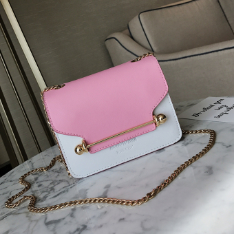 Small Square Stylish free New style shoulder small bag women's bag (Pink)