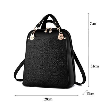 SMINICA High Quality Backpack Women 2017 Oxford Embossed Fashion Black Brand Back Pack School Bag For Teenagers Girls Bagpack(black) - intl - 4