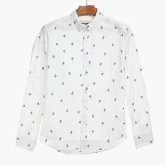 SMYTH Boys Teens Long Sleeves Casual Shirt (White)