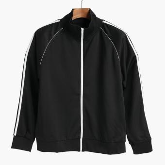 SMYTH Boys Teens Track Jacket (Black)
