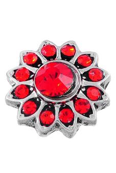 Snap Button Bracelet Red