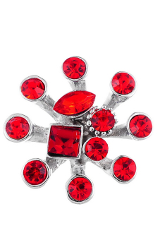 Snap Buttons With Rhinestone K85646 Red