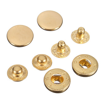 Snap Fasteners Press Stud Sewing Leather Buttons 15Pcs 15mm - picture 2