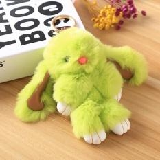 Soft Rex Rabbit Fur Keychain Charm Bag Wallet Phone Cute Pom Pendant Hot - intl