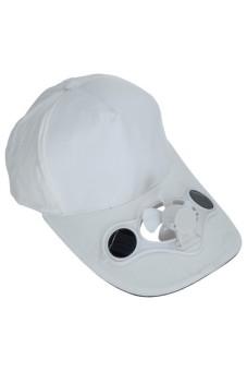 Solar Power Hat for Golf Base White