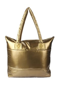Space Bale Cotton Totes Handbag (Gold)