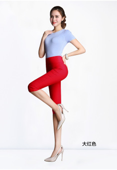 Special Plus-sized super stretch leggings (Bright Red)
