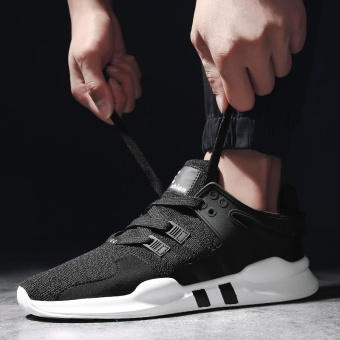 Sport Shoes Men Breathable Running Shoes Mens Sneakers Running Shoes For Men Outdoor Sports (Black) - intl - 2