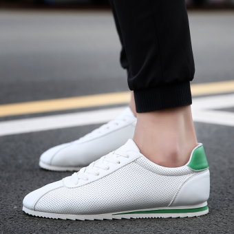 Sports Korean-style autumn New style men's Forrest Gump shoes (8630 white and green)