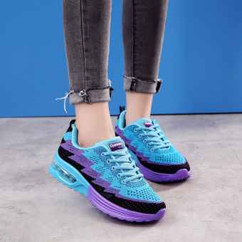 Spring and Autumn New style for men and women lightweight non-slip sports shoes mesh shoes (Female models moonlight)