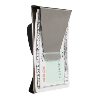 Stainless Steel Money Clip Double Sided Cash Note Credit Card Holder Thin Gift - 4