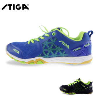 Stiga cs-2621 genuine men and women table tennis ball shoes (Blue CS2621)
