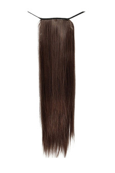 Straight Wrap Round Pony Tail Extension (Dark Brown) - picture 2