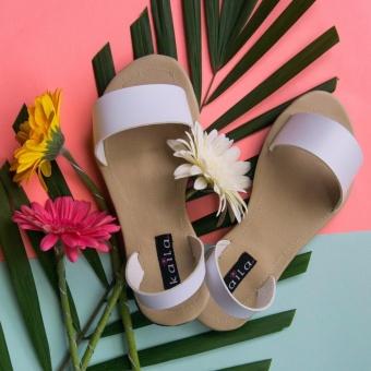 Straps One Band Sandals White