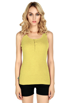 Stretch Vest Tank Sport Sleeveless Tops Yellow