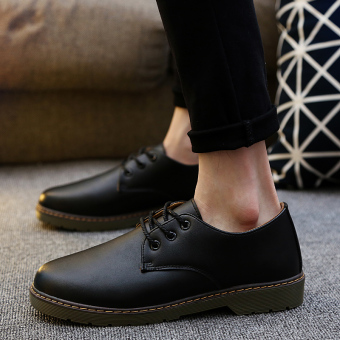 Stylish guy's casual winter youth trendy shoes (Black)