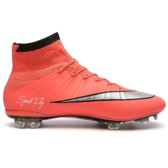 SuFei Superfly Soccer Shoes FG High Ankle Football BootsOutdoorTraining Soccer Cleats Orange - 2