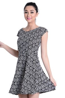Sugar Clothing Jasim 14 Dress (Black/White)