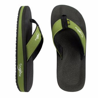 Sugbu Baclayon Mens Slipper Sandal by Islander (Green) - 2