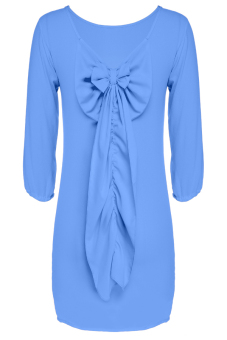 Summer Casual Chiffon Dress (Blue) - picture 2