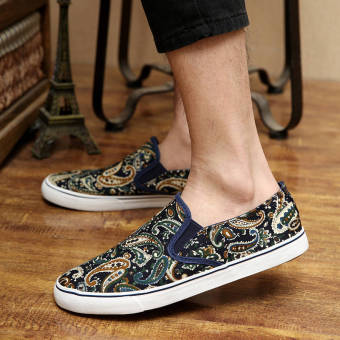 Summer Fashion Classical Pattern Shoes - Blue