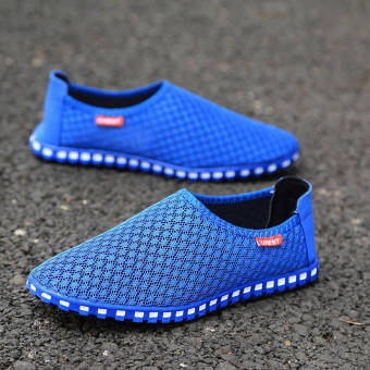 Summer Fashion Mesh Lazy Loafers - Blue