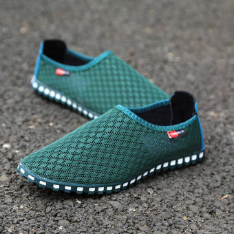 Summer Fashion Mesh Lazy Loafers - Green