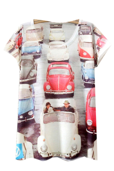 Summer Print Loose Casual T Shirt - picture 2