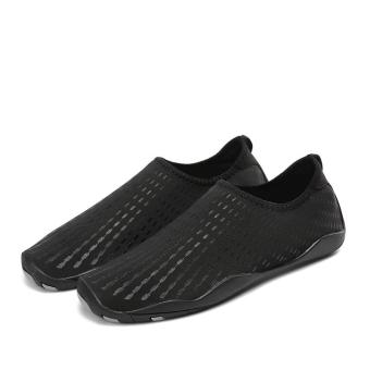 Summer Water Sports Shoes Swimming Beach Shoes (Black) - intl