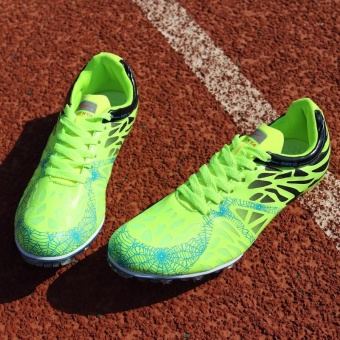 Sunshine Track Sports Running Shoes Spike Spikes Athletics Training Shoes Lelaki Berjalan Kasut - Green - intl - 5