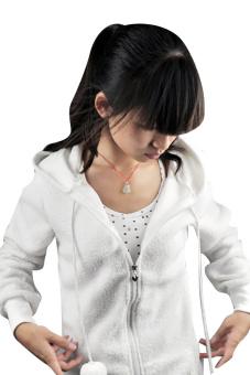 Sunweb Cute Women Bunny Ears Warm Hoodie Jacket Coat (White) - picture 2