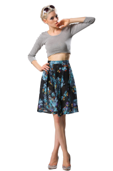 Sunweb Women's Floral Pleated Skirt (Black) - picture 2