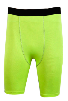 Supercart Men's Cycling Bike Sport Training Shorts Gym Shorts Tight Pants Compression Breathable Quick-Dry Pants Outdoor Training Tight Trousers (Green) - INTL