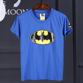 Superman Korean Black Summer short sleeved t-shirt (Dark blue color)