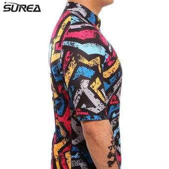 SUREA 2017 New Fabric Summer Men Quick Dry Cycling Jersey MtbBreathable Bicycle Clothing Short Sleeve Cool Bike Wear ClothesDS-13 - intl - 4