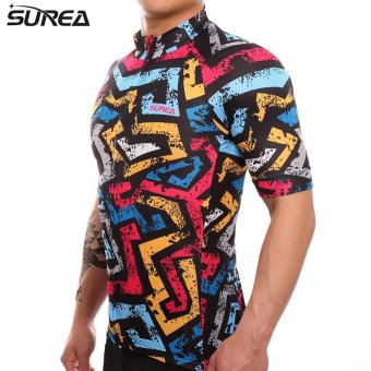 SUREA 2017 New Fabric Summer Men Quick Dry Cycling Jersey MtbBreathable Bicycle Clothing Short Sleeve Cool Bike Wear ClothesDS-13 - intl - 3