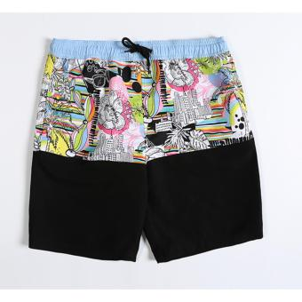 Swimming Beach Shorts for Men Sport Shorts Combination ColourBoardshorts - intl