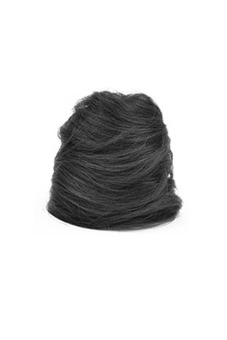Synthetic Fiber Hair Bun (Bright Black)