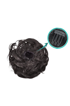 Synthetic Fiber Hair Bun (Dark Brown) - picture 2