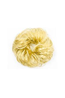 Synthetic Fiber Hair Bun Scrunchie (Blonde)
