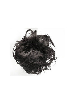 Synthetic Fiber Hair Bun Scrunchie (Natural Black) - picture 2