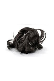 Synthetic Fiber Hair Bun Scrunchie (Natural Black)