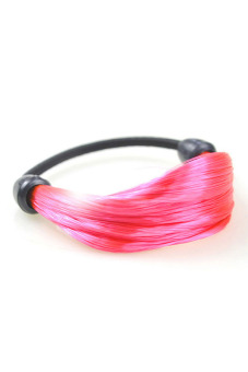 Synthetic Fiber Hair Rope Holder (Dark Pink)